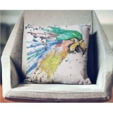 Декоративная наволочка Взрыв цвета: Попугай