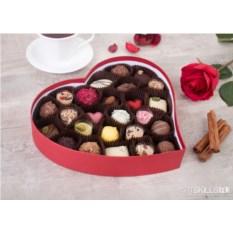 Набор шоколадных конфет ручной работы «Щедрое сердце» с фото