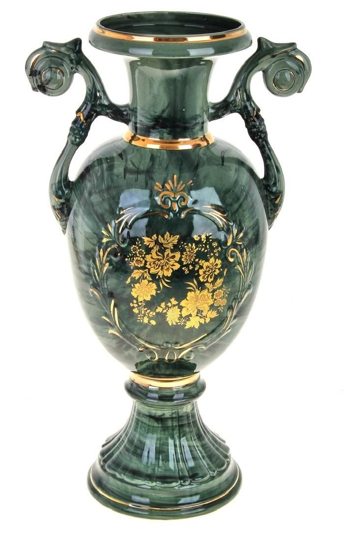 Напольная ваза Венера, зеленая