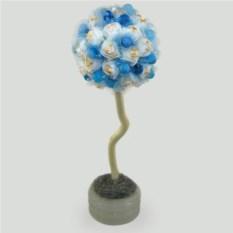 Дерево-топиарий из агата Голубой подарок