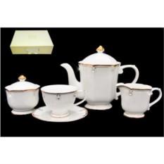 Фарфоровый чайный сервиз 17 предметов в подарочной упаковке