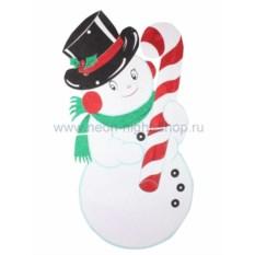 Елочная игрушка Снеговик в шляпе