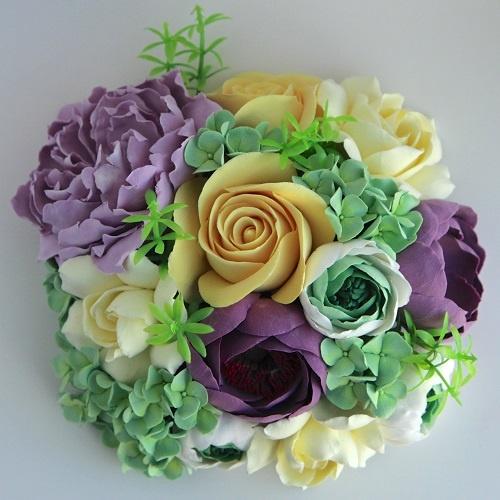 Цветочная композиция из глины Весеннее пробуждение