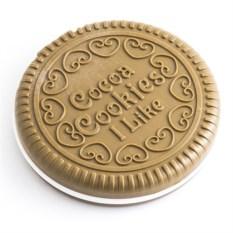 Круглое зеркало с гребешком (цвет: шоколад)