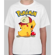 Детская футболка с покемоном Пикачу go