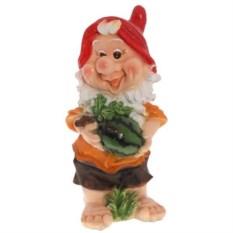 Декоративная садовая фигура Гном с арбузом