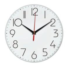 Настенные часы с тонкими цифрами