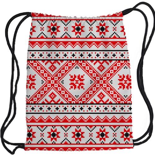 Рюкзак-мешок Русский узор: ромбы