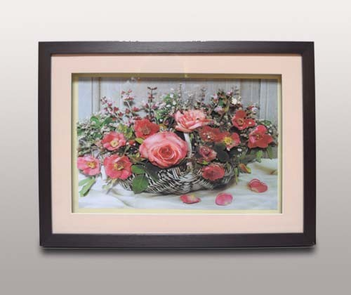 Декоративное панно, розовые цветы