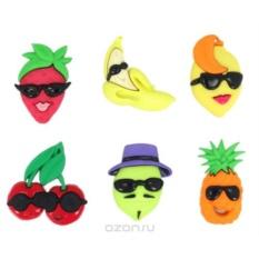 Пуговицы декоративные Dress It Up Фрукты, ягоды, 6 шт