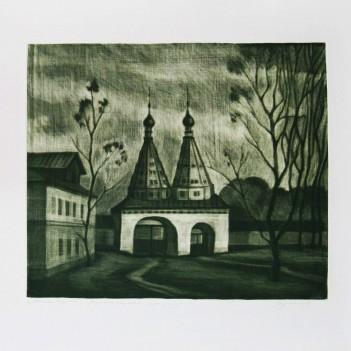 Святые ворота Ризположенского монастыря в Суздале