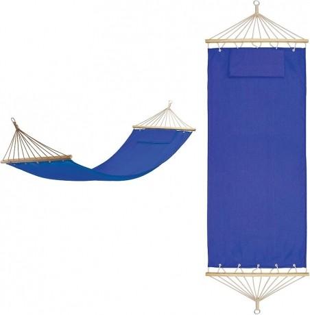 Синий хлопковый гамак с подушкой Майами в сумке