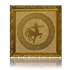 Картина Swarovski Стрелец золотого цвета