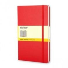 Красная записная книжка Moleskine Classic (в клетку)