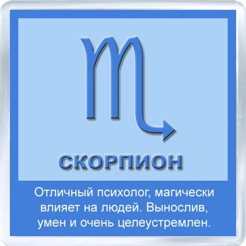 Магнитный подарок: Скорпион