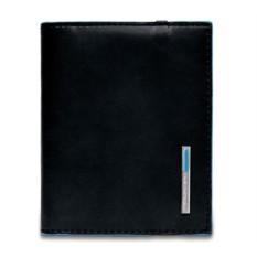 Черный футляр для кредитных карт Piquadro Blue Square