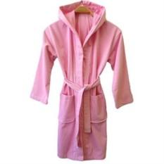 Розовый детский/подростковый халат для девочек Rose