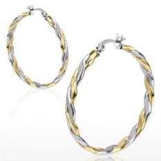 Серьги-кольца из стали Spikes (цвет: серебряный, золотой)
