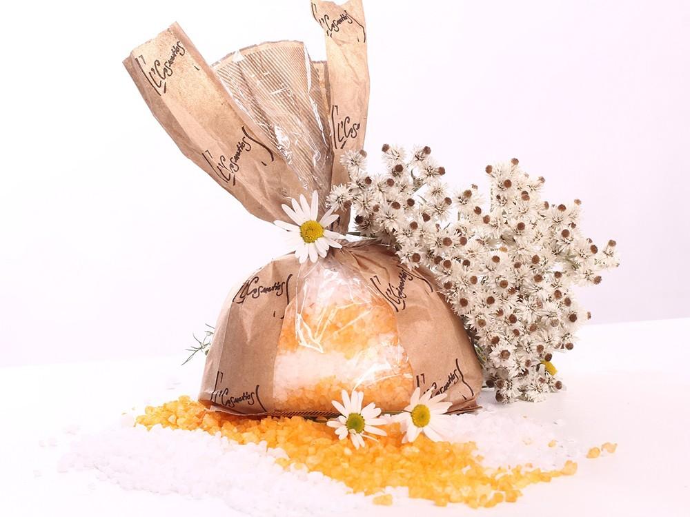 Морская соль мертвого моря с пеной Липа и ромашка