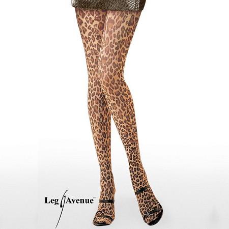 Колготки с рисунком Леопард