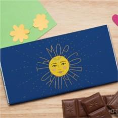 Шоколадная открытка Солнышко