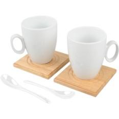 Набор Дуэт из 2 чашек, 2 подставок и 2 ложек