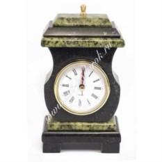 Часы из змеевика со шкатулкой Ретро