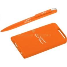 Оранжевый прорезиненный набор Ручка и источник энергии