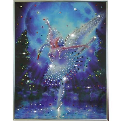 Картина с кристаллами Swarowski Лебединое озеро