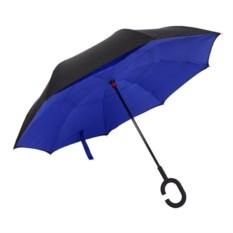 Синий ветрозащитный зонт-наоборот Up Brella