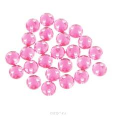 Пришивные стразы Астра, акриловые, круглые, светло-розовые, диаметр 6,5 мм, 25 шт