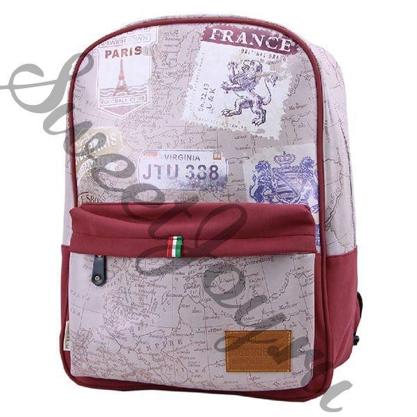 Большой кожаный рюкзак Travel Memories Beige