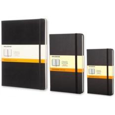 Черная записная книжка в линейку Moleskine Classic
