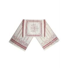 Розовый рушник для каравая Артель с кружевом