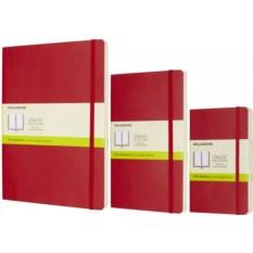 Красная нелинованная записная книжка Moleskine Classic Soft