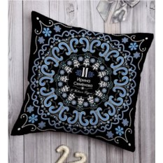 Декоративная подушка с вашим именем Точечная роспись
