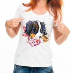 Женская футболка Собачка с кошечкой