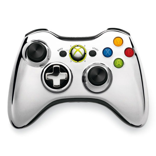 Геймпад Wireless Controller Chrome Silver (Xbox 360)