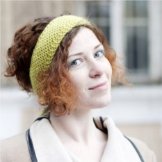 Светло-зеленая повязка на голову