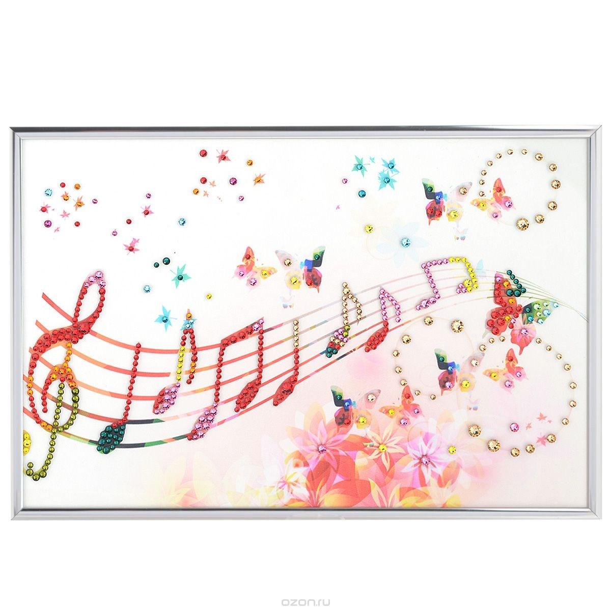 Картина из кристаллов Swarovski Музыка настроения