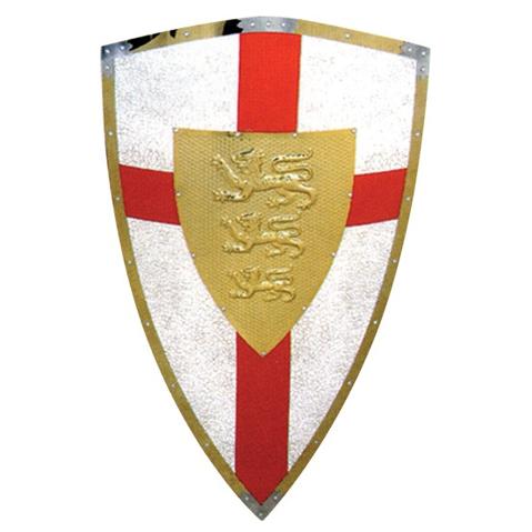Щит белый с красным крестом «Три льва»