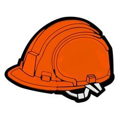 Флешка Каска, 8 Гб, оранжевая