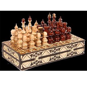 Шахматы «Русские узоры»  30 х 15 см