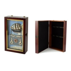 Коллаж-ключница Парусник , размер: 15х7х25см