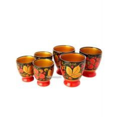 Набор бокалов из 6 предметов Хохлома
