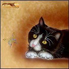 Картина Кот и бабочка