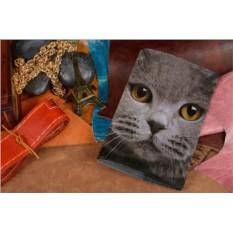 Кожаная обложка для ветеринарного паспорта Паспорт кота