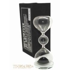 Песочные магнитные часы (высота 20 см, черный песок)