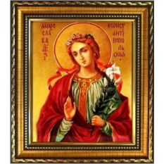 Икона на холсте Мирослава Константинопольская, Святая дева