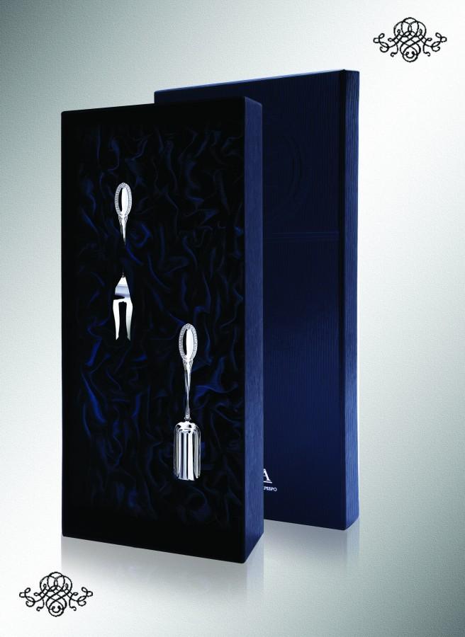 Серебряный набор для сервировки Император, 2 предмета №2